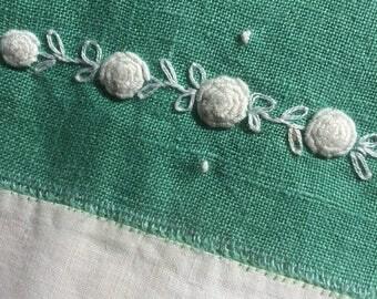 Linen tea towels, vintage, set of 2