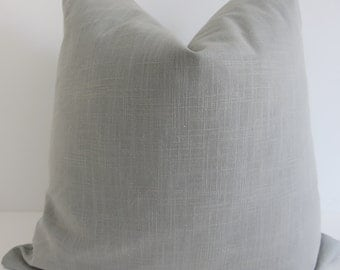 Solid Light gray linen Pillow Covers- Pillow Covers - Gray Linen Pillows- Gray Pillows