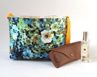 Fabric Messenger Bag - Floral Cheetah Print, Handmade Flowery Bag, Cross Body Bag, LoadedBobbins