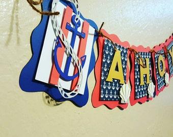 Ahoy it's a Boy Banner