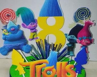 Trolls Theme Centerpeice