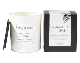 Natural scented candle - Mandarine + Basil