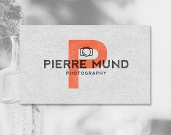 Vintage Photography Logo. Camera Logo. Photographers. Logos and Watermarks. Premade Logo. P23.