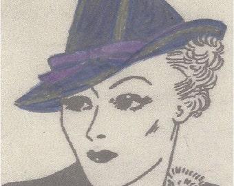 1940 Vintage Sewing Pattern HAT S22 MEDIUM (R799)
