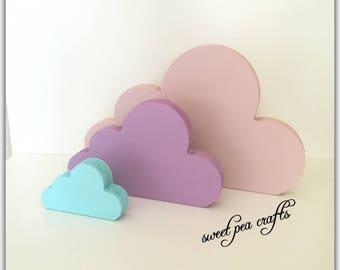 Clouds, Set of 3, Nursery, Bedroom Accessory