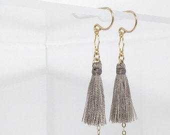 Tassel Bell Hook Earrings