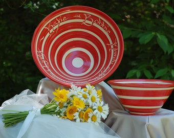 """Celebration Bowl, Stripe, 12"""""""