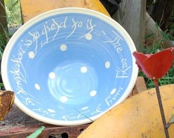 Wedding Bowl, Polka Dot
