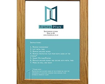 "Oak Wooden Effect Picture Photo Frames Size: A4 (8.25""X11.75""), Portrait Or Landscape Readymade"