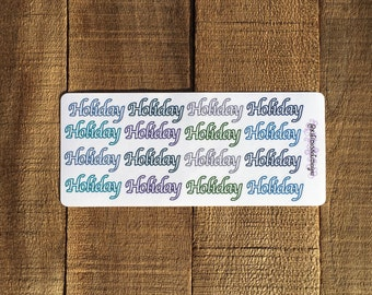 Holiday Planner Sticker