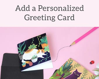 Add a Custom Greeting Card to your Delivery!