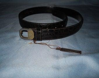 Authentic Pierre Cardin Paris belt ! Genuine leather ! Vintage Belt!