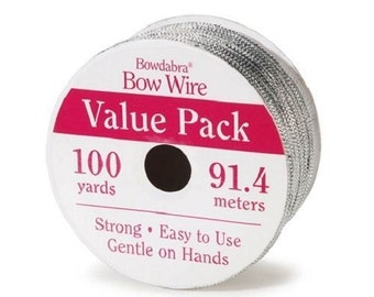 Bowdabra Bow Wire, 100 Yards, Silver (Set of 4)