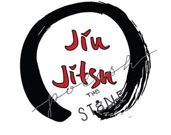 Jiu Jitsu Print / BJJ Art / Jiu Jitsu Calligraphy / Enso / Digital Download / Budo / Zen / Martial Arts / Aikido / Karate / Judo