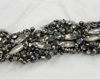 1 yard Rhinestone trim,applique trim, Bridal Applique, DIY Weddings, trim, rhinestone applique, crystal sash, bridal sash hand made #PD531