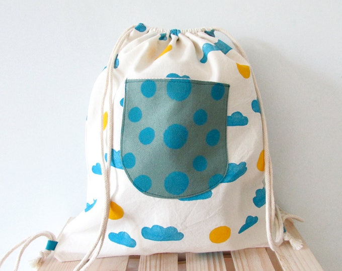 Handmade Backpack for Kids // Cloudy Sunny Day