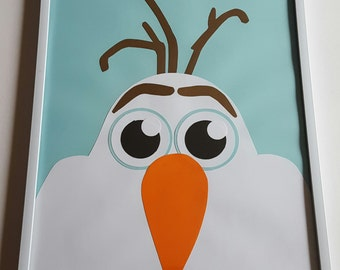 Disney Frozen's Olaf Wall Hanging, Frozen Room Decor