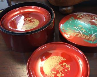 Lacquerware box drink coasters