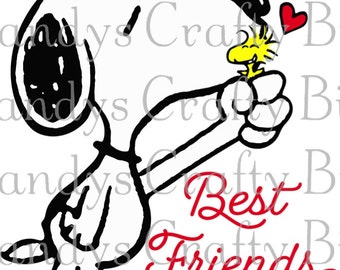 SVG Snoopy Best Friends