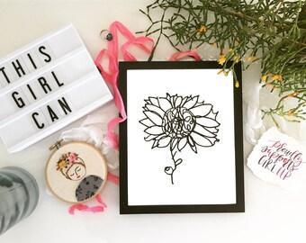 Hannah's Sunflower Print