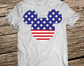 Disney shirts for men, Disney Shirts for boy,  Mickey Mouse Disney mens shirt, American flag shirt, 4th of july shirt, Fourth of july shirt