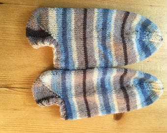 Sneakersocken, knitted socks, knitted Gr. 38