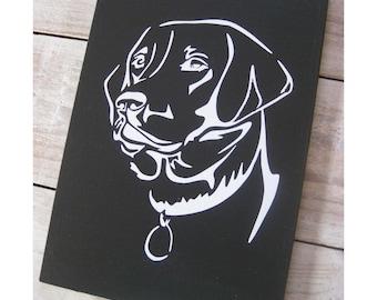 """Black labrador wooden sign, 6"""" x 8"""", Dog, Lover, Gift"""