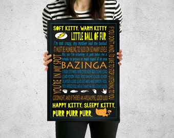 The Big Bang Theory Print, Sheldon Cooper, The Big Bang Theory Poster, Quote Print, Quote Poster, Quote Wall Art, Prints & Posters, Bazinga