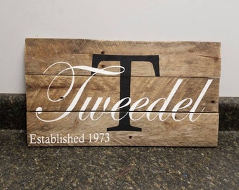 Wedding Gift Sign, Last Name Sign, Personalized Wood Sign, Custom Name Sign, Established Date Sign, Family Name Sign