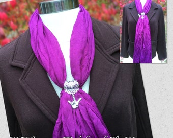 ILY Chic Scarf with ILY Floral Pendent Slider  (see below description about the colors)