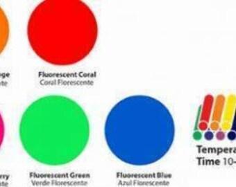 Fluorescent Siser Heat Transfet Vinyl Sheets 12x15