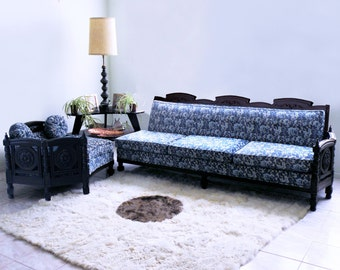 mid century sectional FRENCH mod hollywood regency ROCOCO baroque sofa couch