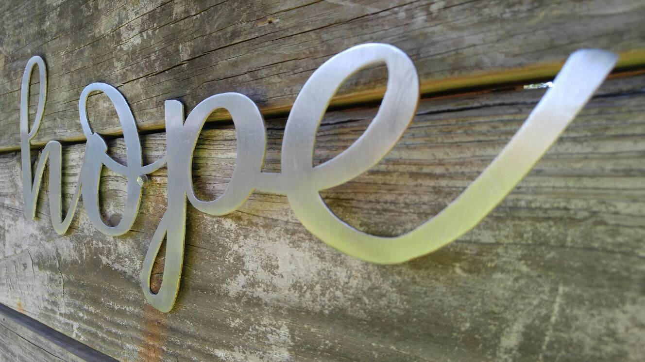 Hope sign farmhouse decor hope wall art rustic signs hope hope sign farmhouse decor hope wall art rustic signs hope home decor metal words farmhouse sign wall decor word signs wall hanging amipublicfo Image collections