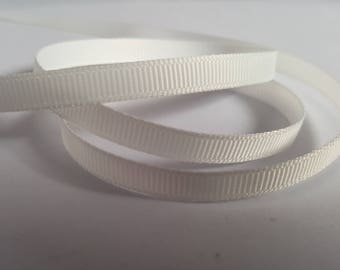 6mm Grosgrain ribbon, Grosgrain ribbon, Double sided ribbon, Ribbon, Ribboncrafts, Grosgrain, White ribbon, White