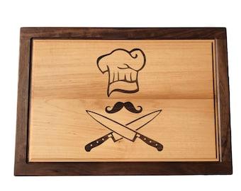 Wood Cutting Board - Personalized Cutting Board - Chef Gift - Custom Cutting Board - Chef Cutting Board - Chef Gift - Housewarming Gift