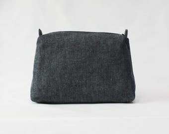 Jean  pouch, travel pouch, cosmetic pouch, makeup bag,