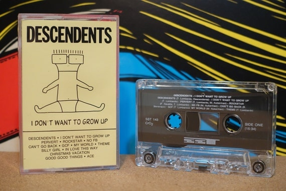 I Don't Want To Grow Up by Descendents Vintage Cassette Tape
