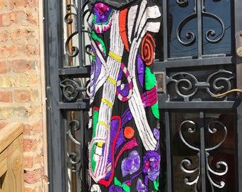 80's Vintage Multi Color Sequin Guitar Dress