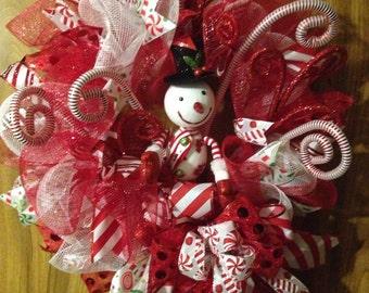 Whimsical Snowman wreath