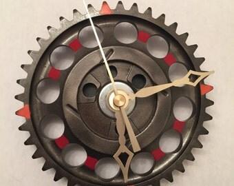 Timing chain gear clock