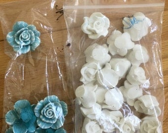 Polymar Clay flowers, for beading, craft embellishments