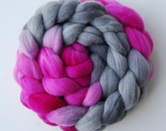 Hand dyed POLWARTH roving, spinning felting fibre, 100g/3.5oz