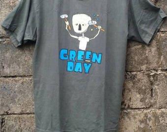 SALE ! Rare Vintage 90s Green Day Nimrod Album Promo Giant USA T Shirt/Punk T Shirt