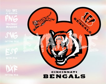 Mickey heads Sport logo football team Cincinnati Bengals ,clipart,SVG,PNG 300dpi ,ESP vector