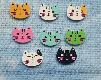 SALE: Colourful cat face needle minder