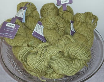 Lot of 7 The Fibre Company Canopy 50g worsted weight sage-avocado green skeins super-soft alpaca merino wool bamboo