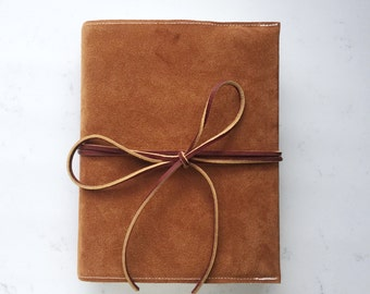 Suede Brown Leather Bible Cover