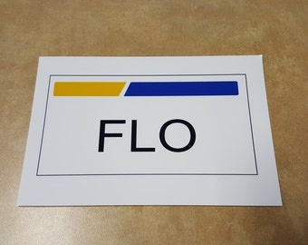 Flo from Progresseive Name Plate