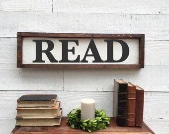 Read sign, vintage Home Decor