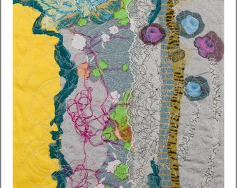 Postal d one of my textile paintings with quality envelope card